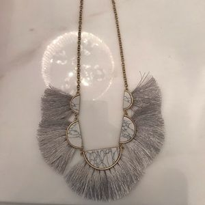 BNWT tassel marble necklace